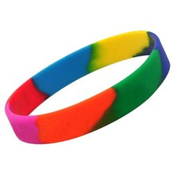Silicone wristbands multi-section colors para eventos de masas